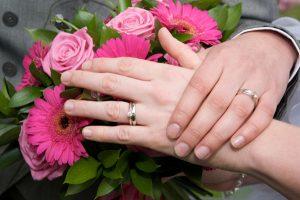 lesbian wedding flowers pink