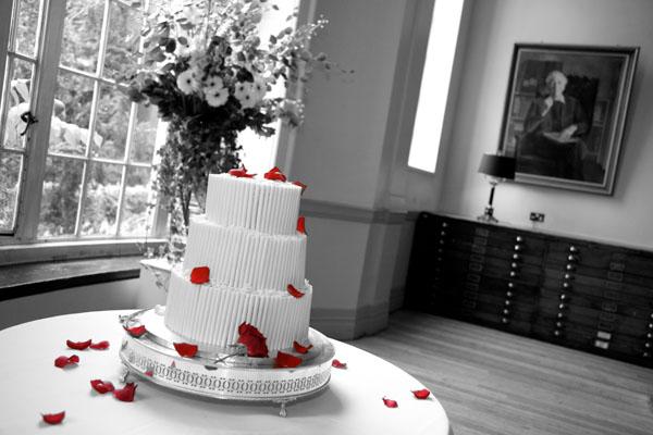 gay wedding cake black and white