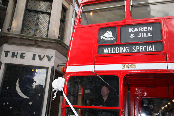 gay wedding london bus