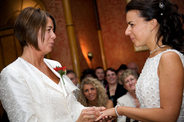 two lesbians getting married saying their vows