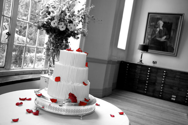 black and white gay wedding cake