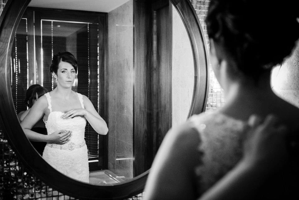 algarve rebecca weddings bride mirror