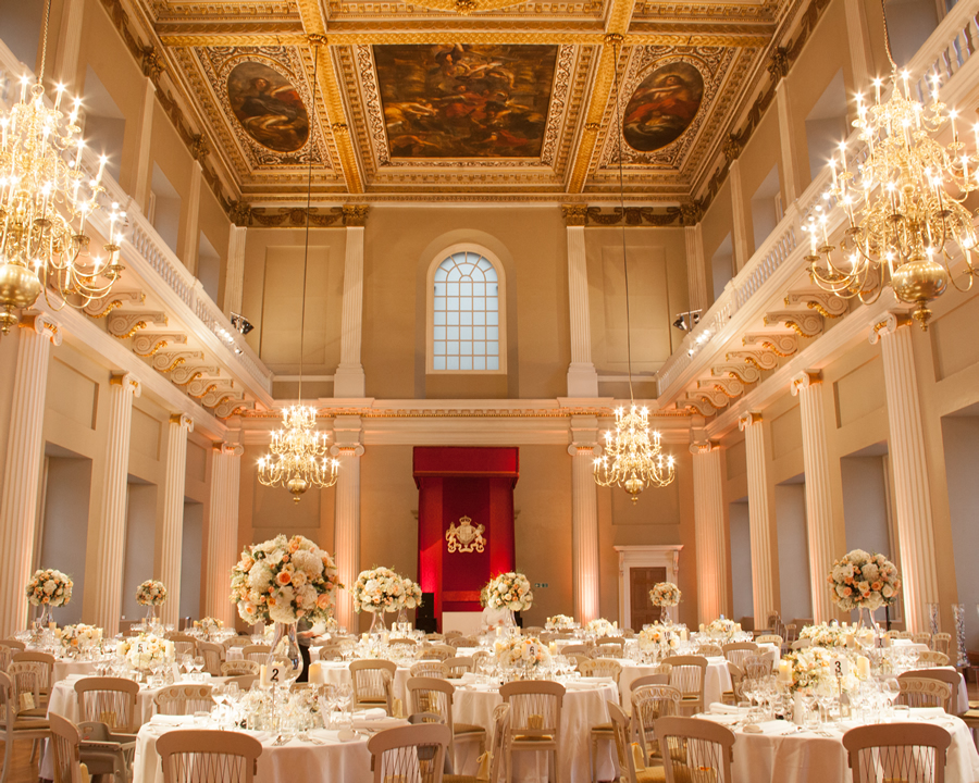banqueting house wedding tables
