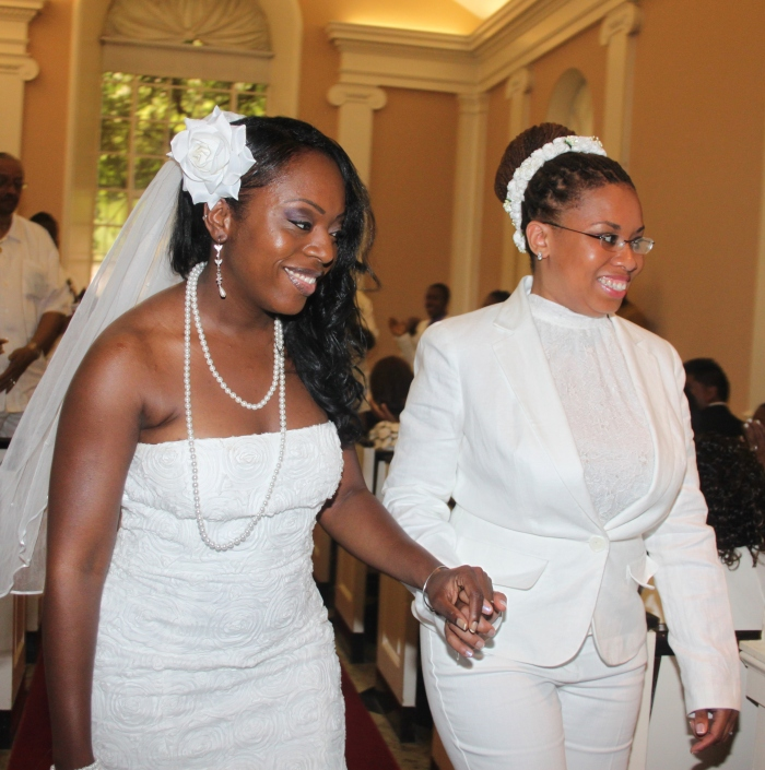 two black lesbians getting married