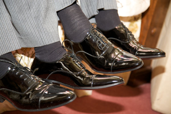 two grooms wedding shoes