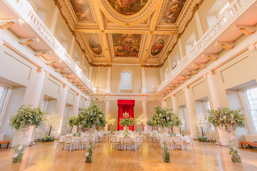 banqueting house main hall wedding