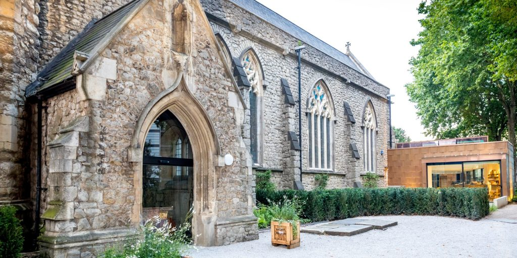 garden museum drinks reception london gay wedding venue